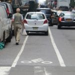 a few challenges on the on-road bike lane