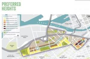 Preferred heights in Fishermans Bend Strategic Framework Plan