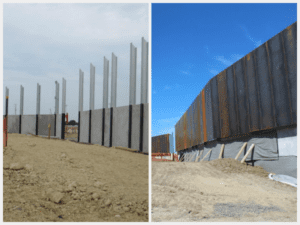 Noise wall taking shape along Todd Road