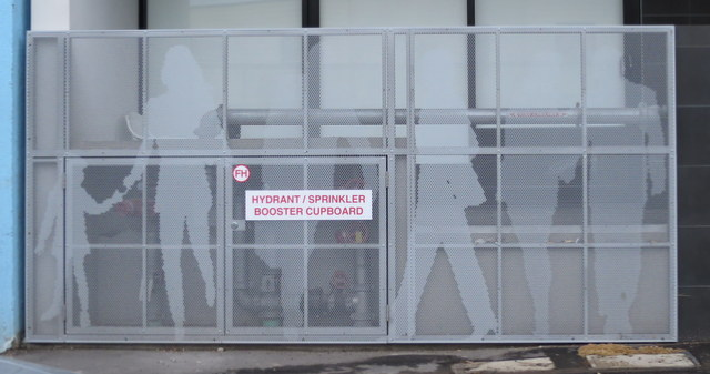 screen at ground level - Aere in Nott St, Port Melbourne