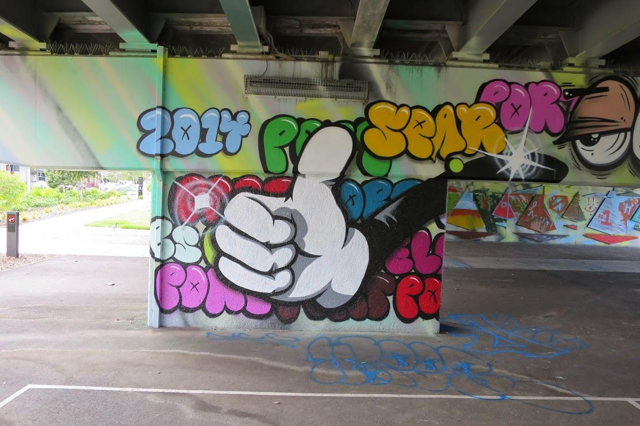 Graham St underpass street art